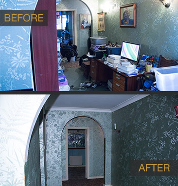 before and after house clearance services